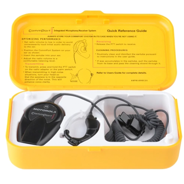NTN1624A CommPort Ear Microphone System with Palm PTT