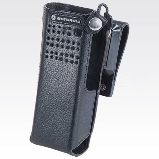 """PMLN5324 Leather Carry Case with 2.75"""" Swivel Belt Loop For Short Batteries"""