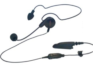 PMLN5806 Mag One Professional Series Behind-The-Head-Style Receiver With Boom Microphone and In-Line PTT Switch