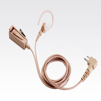 HMN9754 Beige Earpiece with Combined Microphone and Push-to-Talk